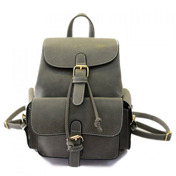 0b86a78606 Fashion Solid Color and Buckles Design Women s Satchel