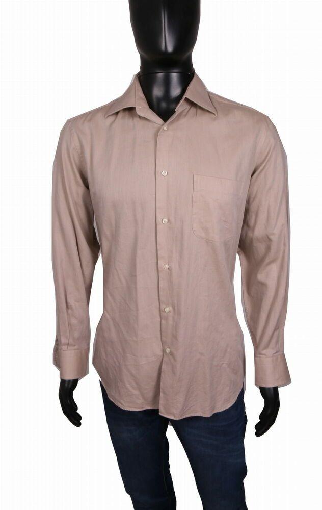 755e1b612 Hugo Boss Mens Shirt Tailored Cotton Ecru size 15 1/2 #fashion #clothing