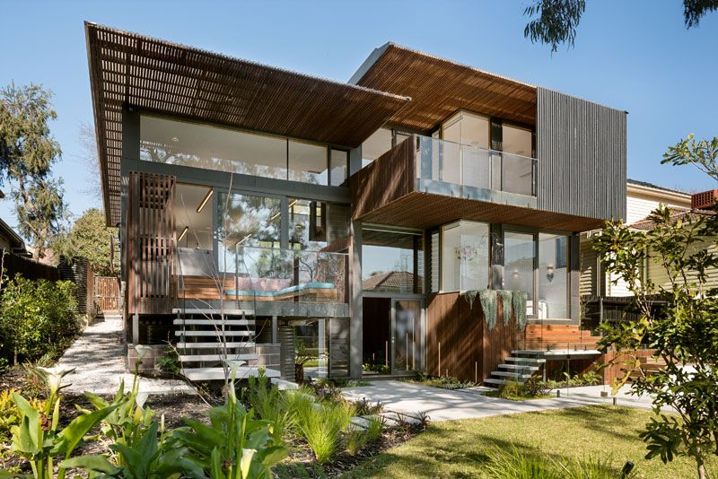 The Front Of This House Appears Modest And Compact But It