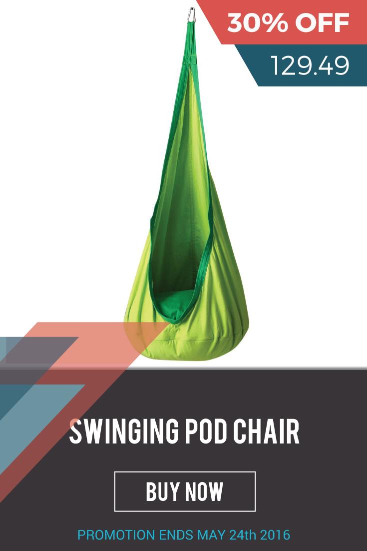 Swinging pod chair for kids indooroutdoor portable hammock seat