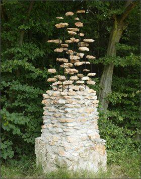 Levitating Stones Cornelia Konrads Stone Pillar Outdoor Gates Garden Art