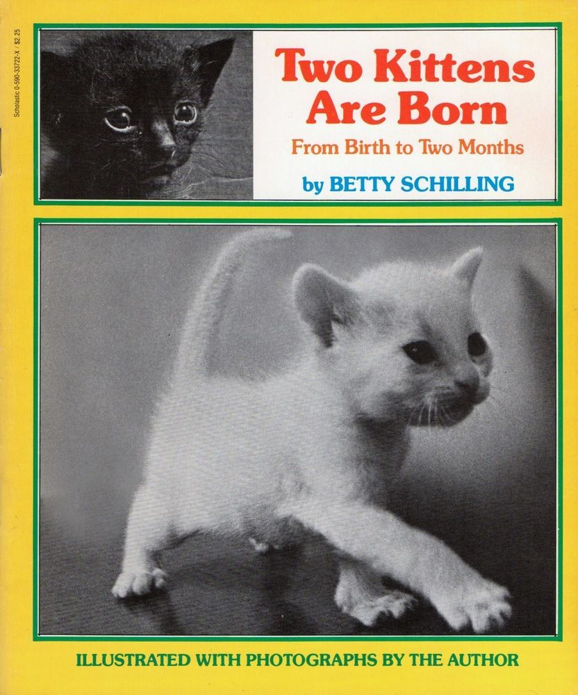 Two Kittens Are Born Betty Schilling 1980 Cats Isbn 0 590 33722 X
