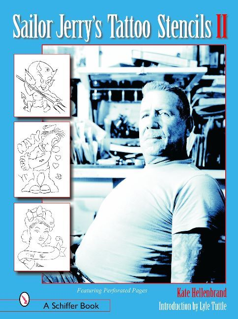 """Sailor Jerry"" Collins is arguably the greatest tattoo artist of the 21st Century. His best-known contributions are the now classic designs . . . fat round roses, plump pin-ups, and scathing military/political cartoons. Now, in a second volume, more of his great stencils are reproduced. Hand-cut, hundreds of basic line works are printed here for the first time. The pages are perforated to make it easier for today's tattoo artist to display the work of this master. Visit to find out more!"