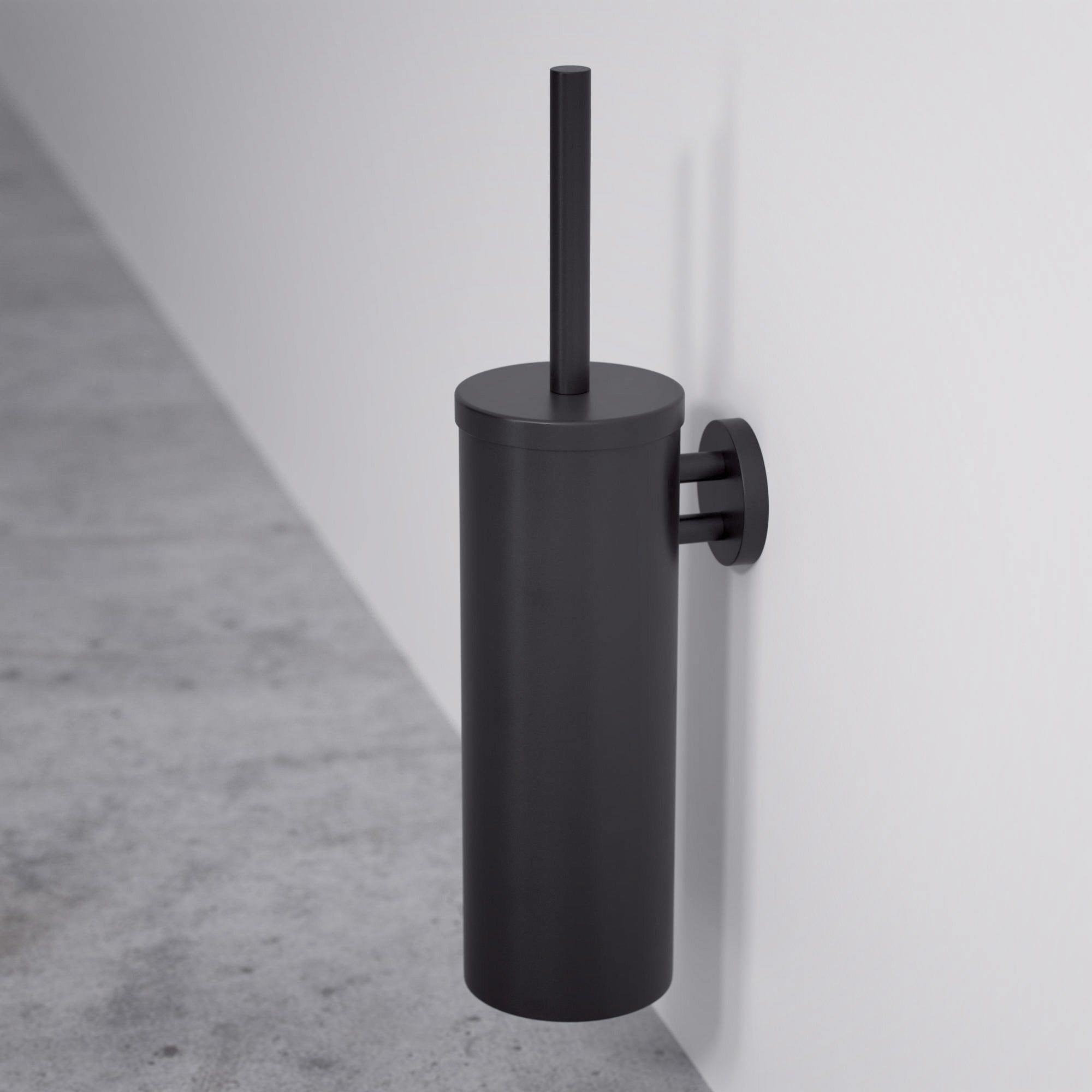 Lusso Luxe Wall Mounted Toilet Brush Holder Matte Black In 2020 Wall Mounted Toilet Toilet Brush Matte Black Bathroom Accessories