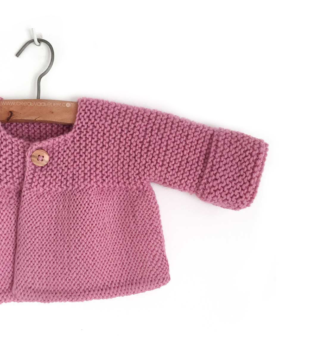 Photo of Knitted Baby Cardigan – PINK LADY –