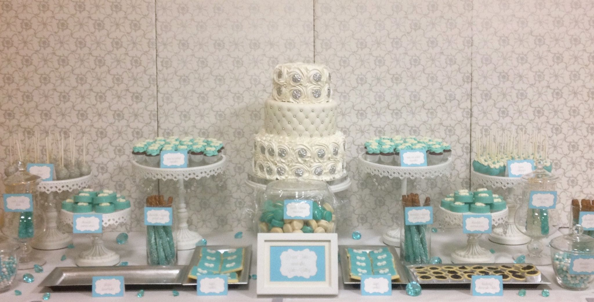 tiffanys inspired tiffany blue white and silver wedding