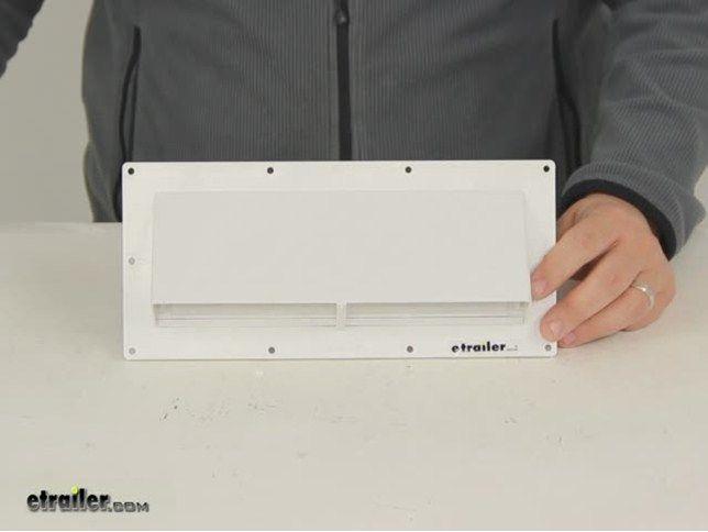 Ventline Exterior Wall Vent For Rv Range Hood Locking Damper 5 8 Collar White Ventline Rv Ven Wall Vents Range Hood Rv