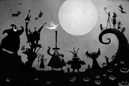 Nightmare Before Christmas silhouettes