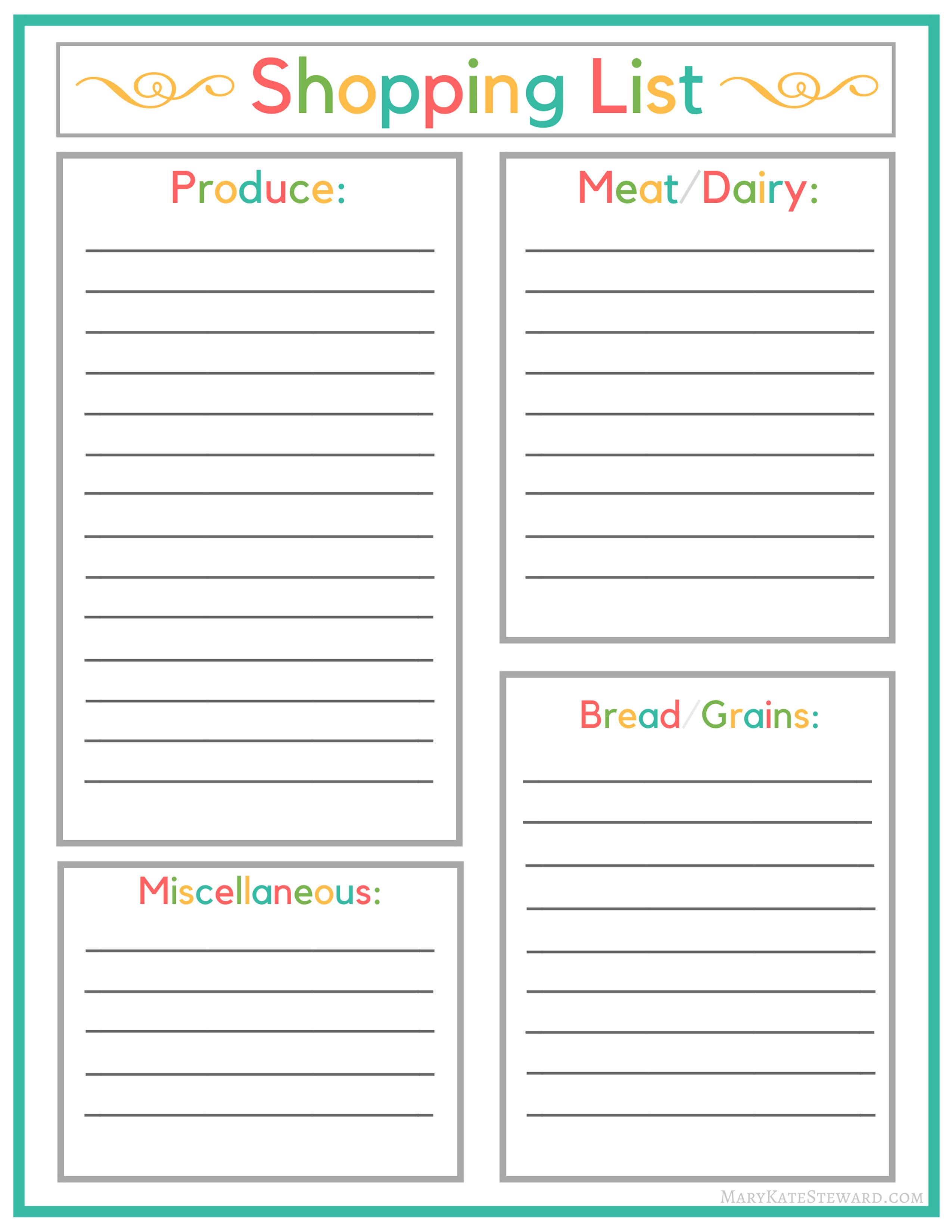 Meal Planning And Shopping Lists How I Keep Our Menu