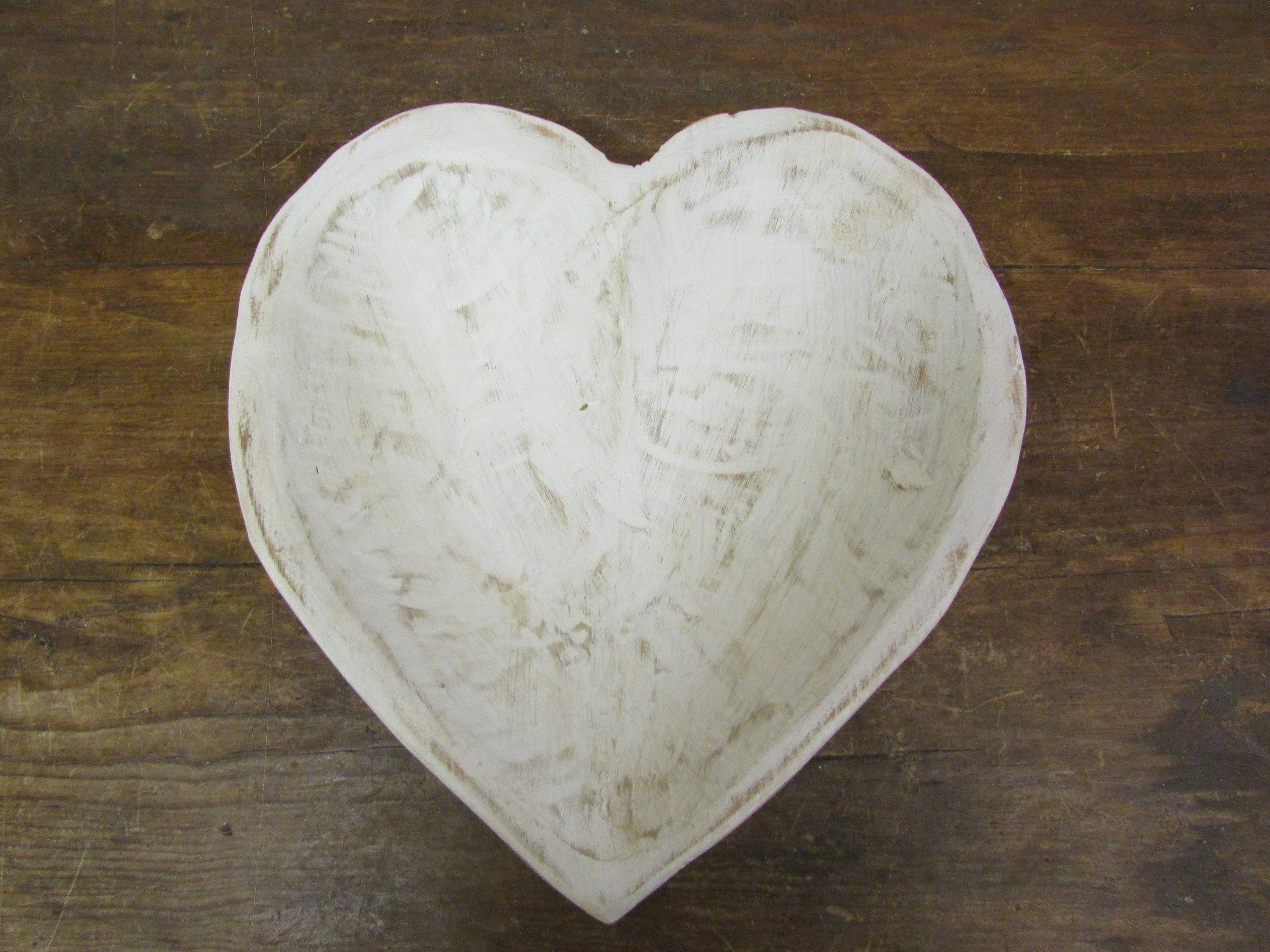 Hand Carved Small Rustic Wooden Heart Dough Bowl 5 Batea Doughboard Doughbowl 11 5x12 5x3 Inches New Pure White Wooden Hearts Hand Carved Dough Bowl