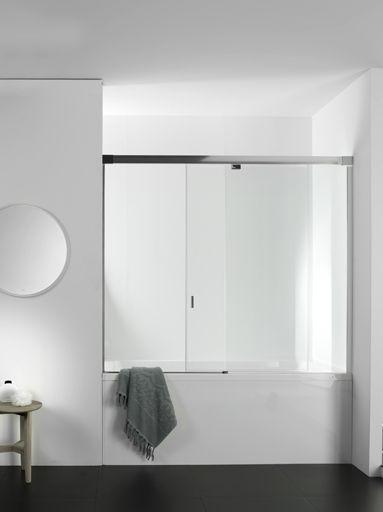 Systempool crea un bagno su misura, con porte a vetri di systempool | mamparas