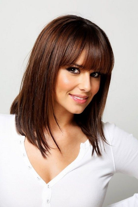 cheryl coles hair styles cheryl cole medium hairstyle with blunt bangs 6463
