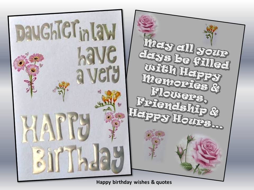 happy birthday daughter in law, birthday wishes for