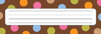 Creative Teaching Press Dots Name Tag