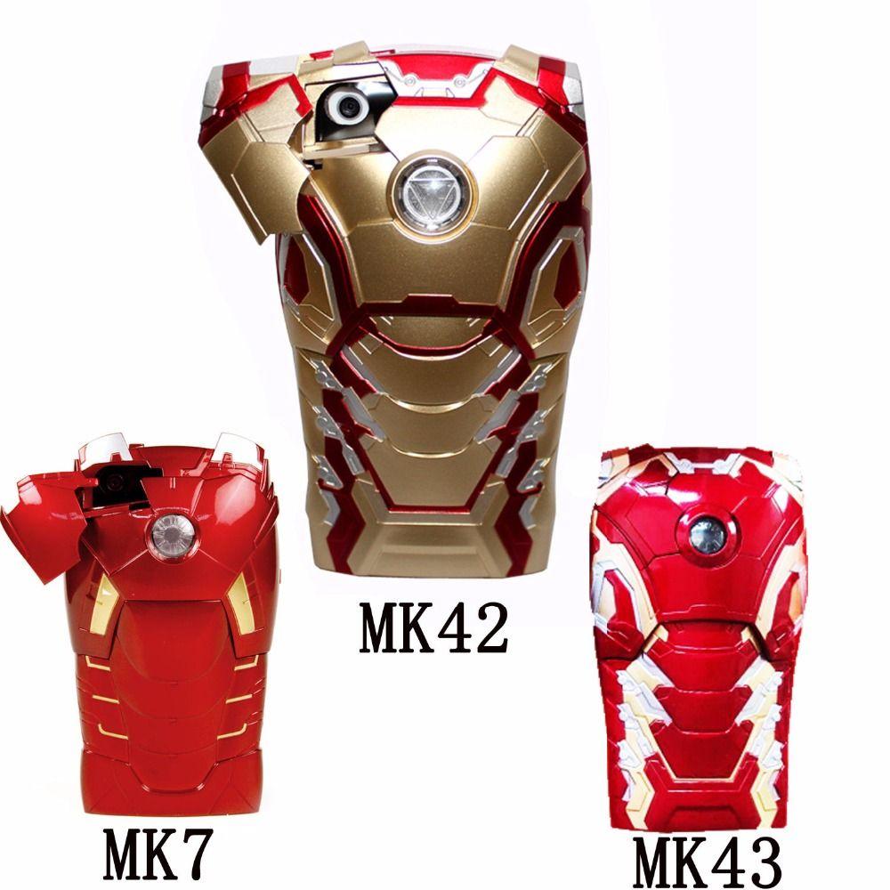 save off 89d09 77501 3D Iron Man Armor Hard MK7 MK42 MK43 MK17 MK20 MK21 LED Flash Light ...
