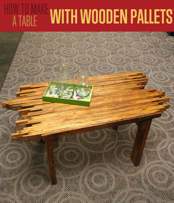 Repurposed Pallet Furniture | How To Make This Awesome Pallet Table | diyready.com