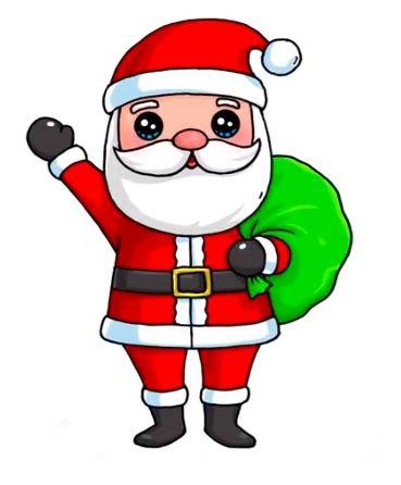 Santo Papai Noel Desenhos Kawaii Desenhos Bonitos Kawaii