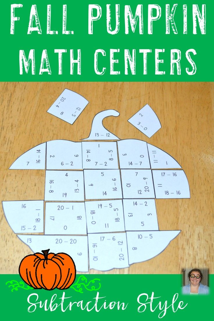 These Subtraction Fall Pumpkin Math Centers Are The Perfect Game For Your 1st 2nd Or 3rd Grade Classroo Halloween Math Centers Fall Math Centers Pumpkin Math [ 1104 x 736 Pixel ]