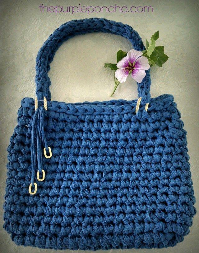 Crochet Handbag Free Patterns Instructions Free Pattern Ponchos