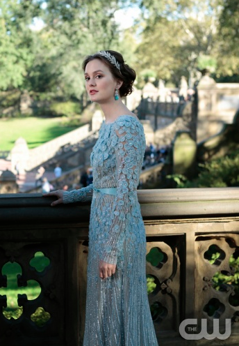 Elie Saab Wedding Gown - Blue - I fell in love with this when Blaire on GG wore it for her second wedding. If I had my way this is what i'd wear for vowel renewal. <3