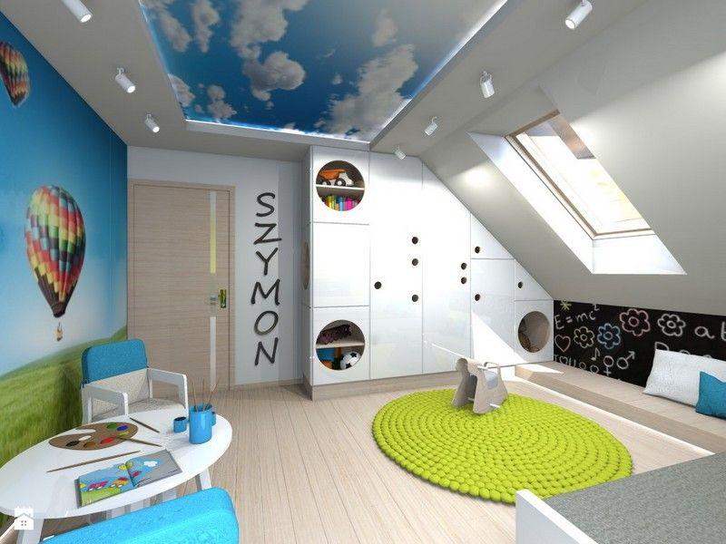 Fototapete Babyzimmer ~ Kinderzimmer junge wolken dachgestaltung ideen fototapete
