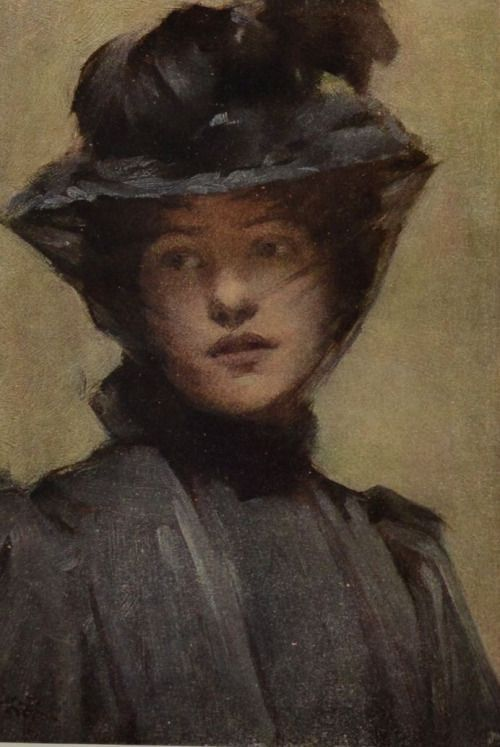 Black Veil, by Samuel Melton Fisher (1859-1939)