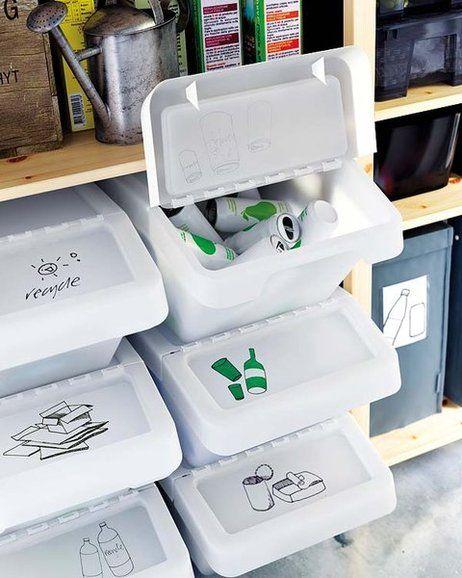9 Ideas De Espacio Reciclaje Cubos Reciclaje Reciclaje Contenedores De Reciclaje