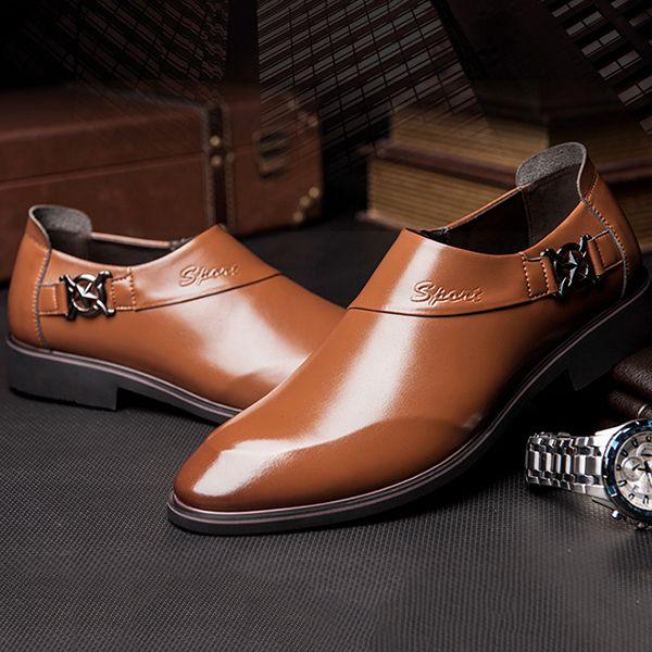 shop online outlet locations sale online Men Formal Dress Microfiber Leather Shoes Jxvu2V2F