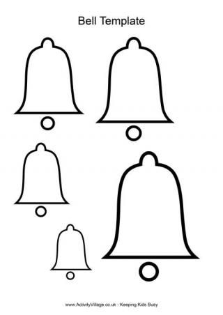 Bell Template For Christmas Decoration Interesting Christmas Templates These Templates Can Be Used In All Sorts Of Design Ideas