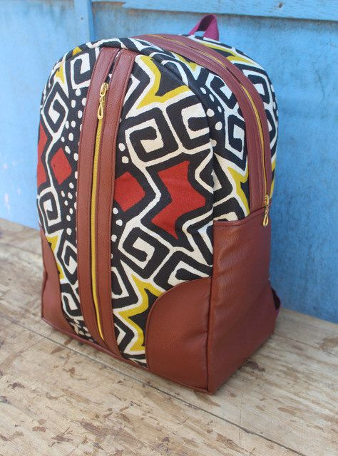 e1d7e4b5cf Mali Mini Ankara Backpack  Bookbag  Rucksack  School Bag  Back pack by  AdinkraExpo on Etsy
