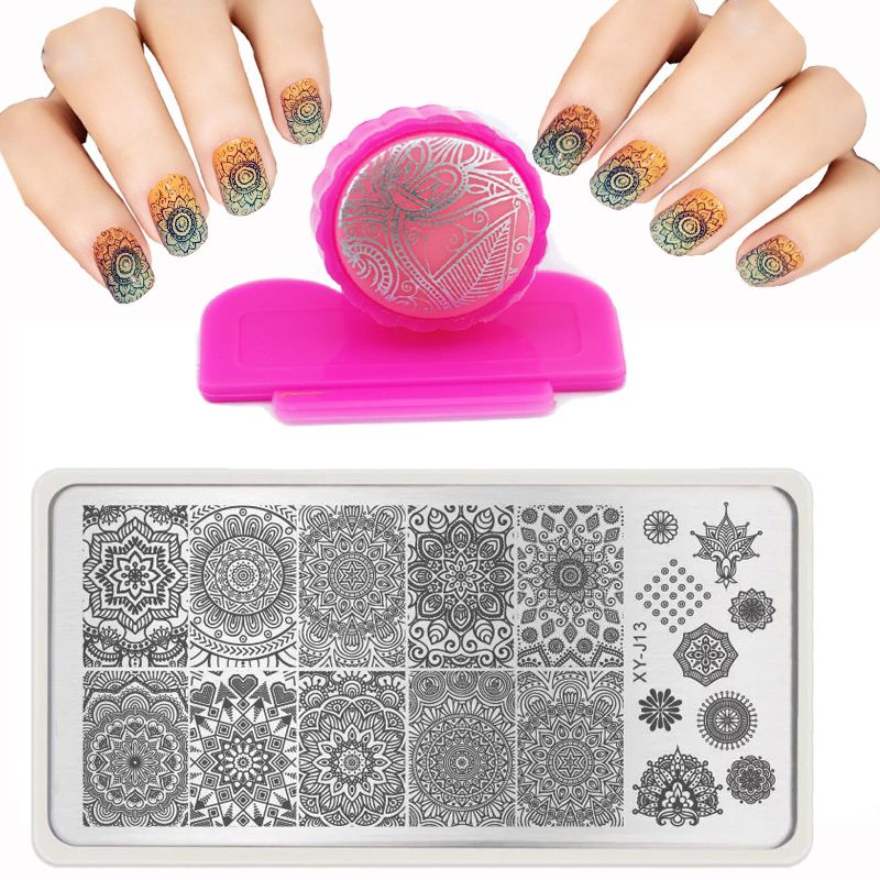 6X12cm Hot Fashion Nail St&ing PLates Set Plates Accessories Lace Stainles Nail Art Templates DIY St&er  sc 1 st  Pinterest & 6X12cm Hot Fashion Nail Stamping PLates Set Plates Accessories Lace ...
