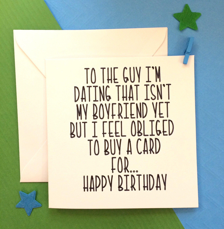 Dating Birthday Card Dating Card New Boyfriend Card Lover Etsy Cards For Boyfriend Cards Birthday Cards