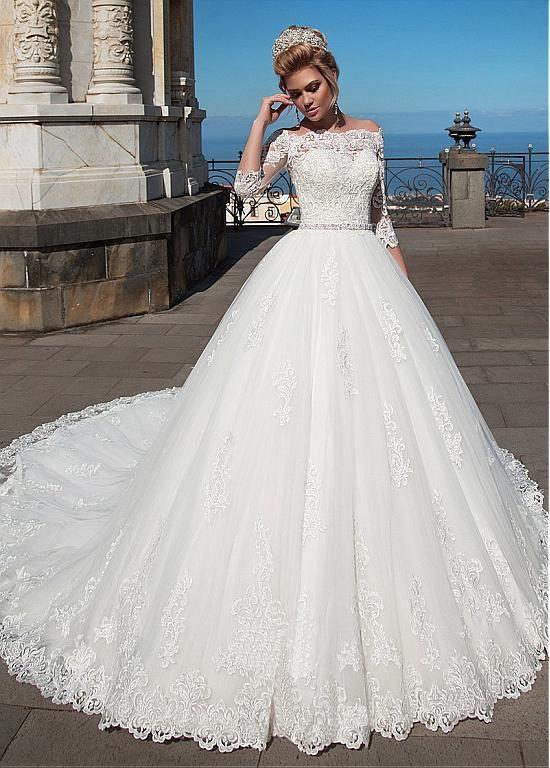 Vestidos de novia con chaqueta de encaje