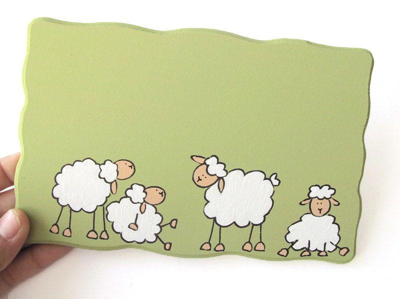 Personalized Door sign Sheep door sign for children by Shellyka ...