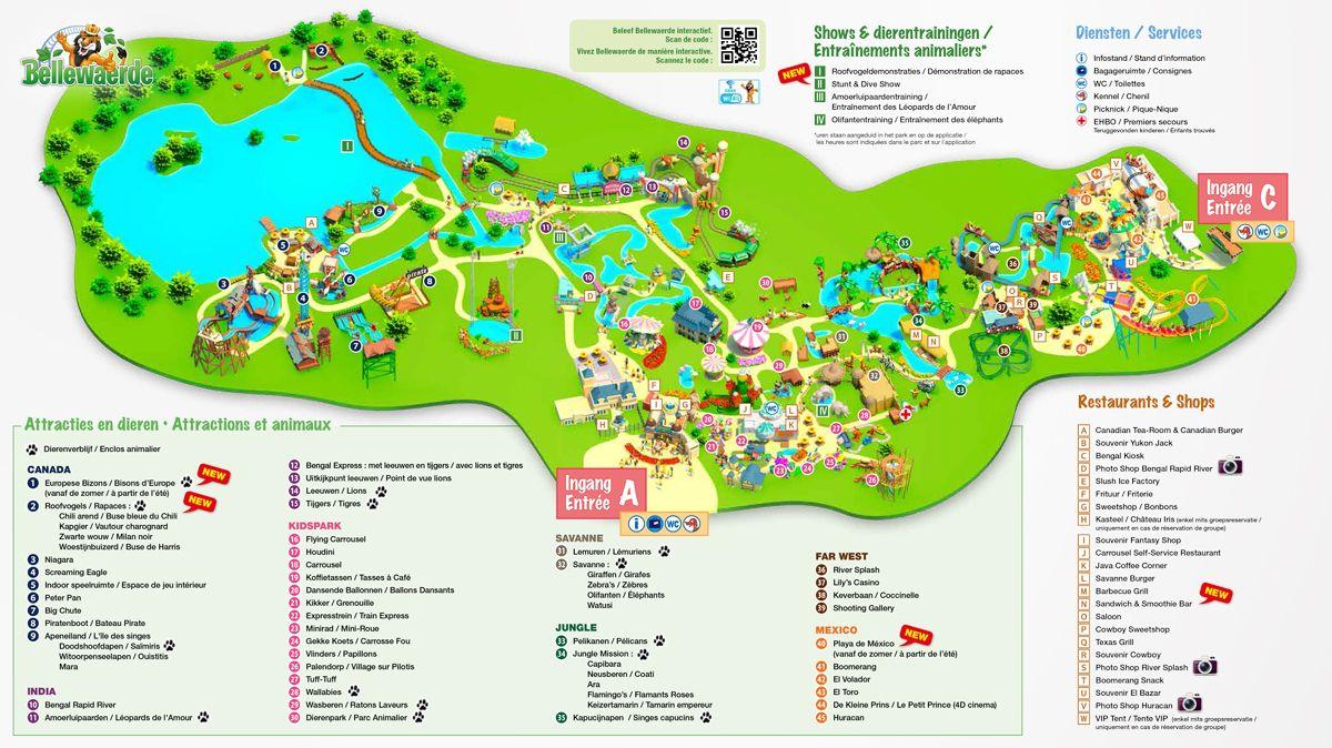 Parkplan Bellewaerde Avec Images Parc D Attraction Parc Le