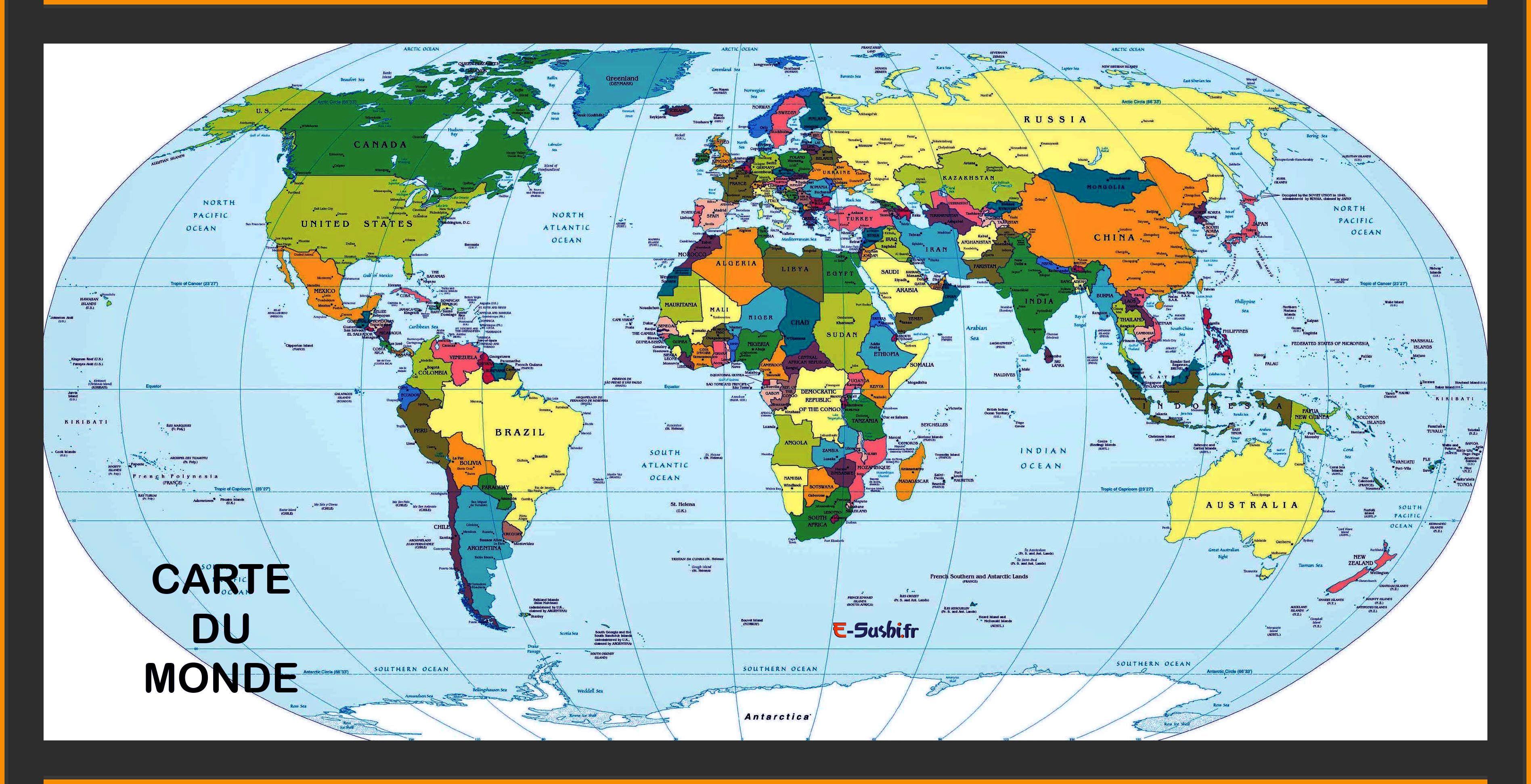 Carte Du Monde Carte Du Monde Fond Décran Carte Du Monde