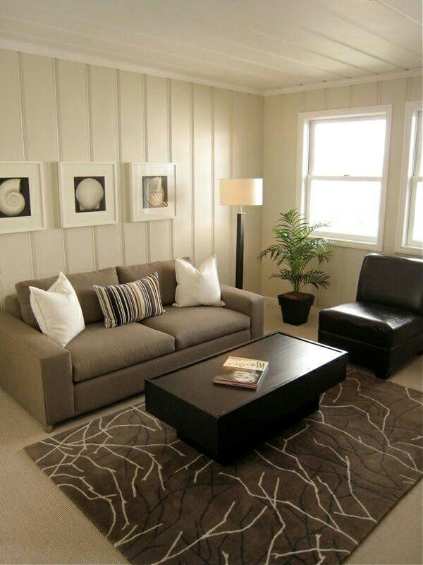 Paint dated paneled walls to modernize the room
