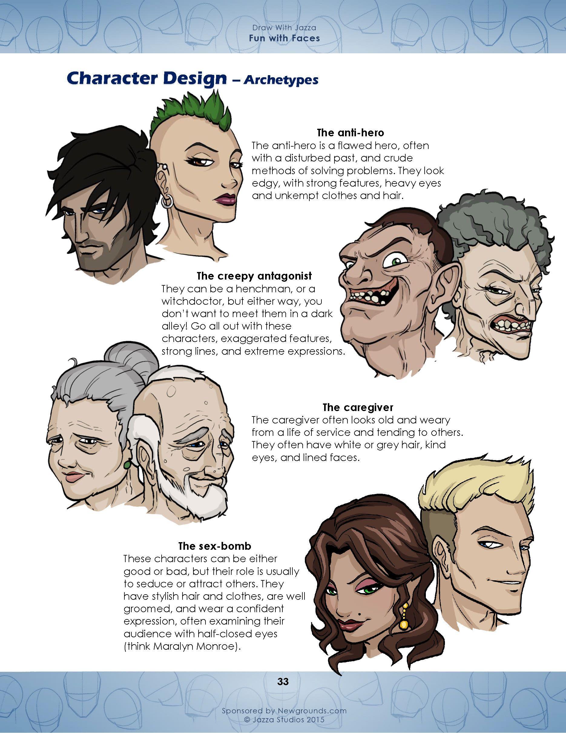 Draw With Jazza: Fun with Faces   Jazza Studios   JAZZA anatomia ...