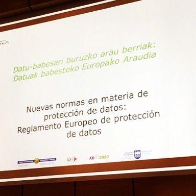 Descanso con @jcampanillas la jornada sobre el nuevo reglamento europeo protección de datos #marketinglegal #marketingdigital #lopd #protecciondedatos