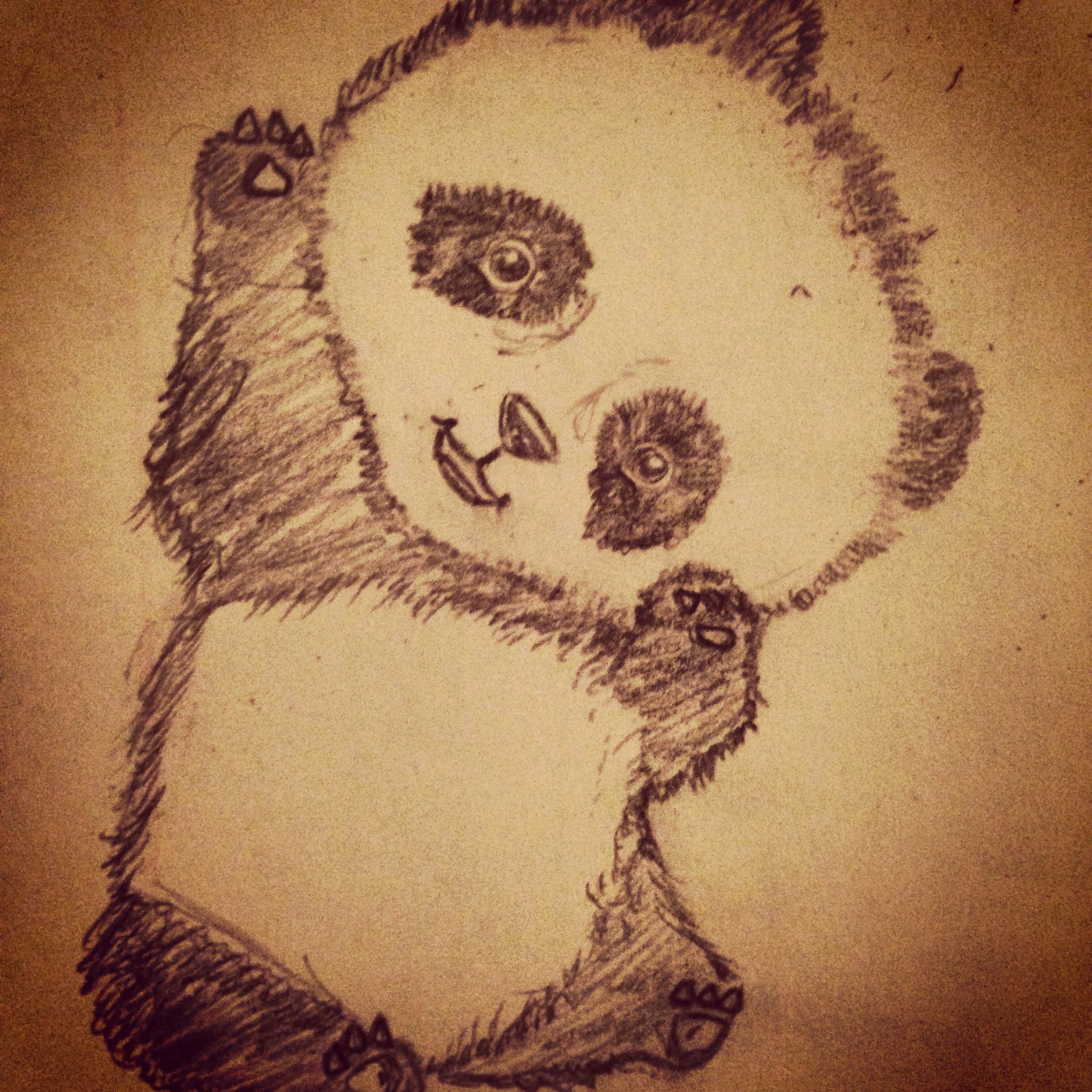 12 pencil drawing panda sketch hands on for Pencil sketch ideas