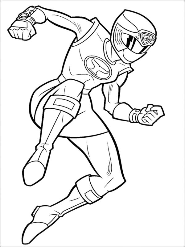 Yellow Ninja Strom Ranger Coloring Pages Power Ranger Coloring
