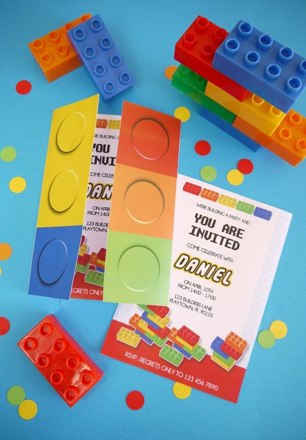 Building Bricks Birthday Party Printables Supplies & Decorations ...