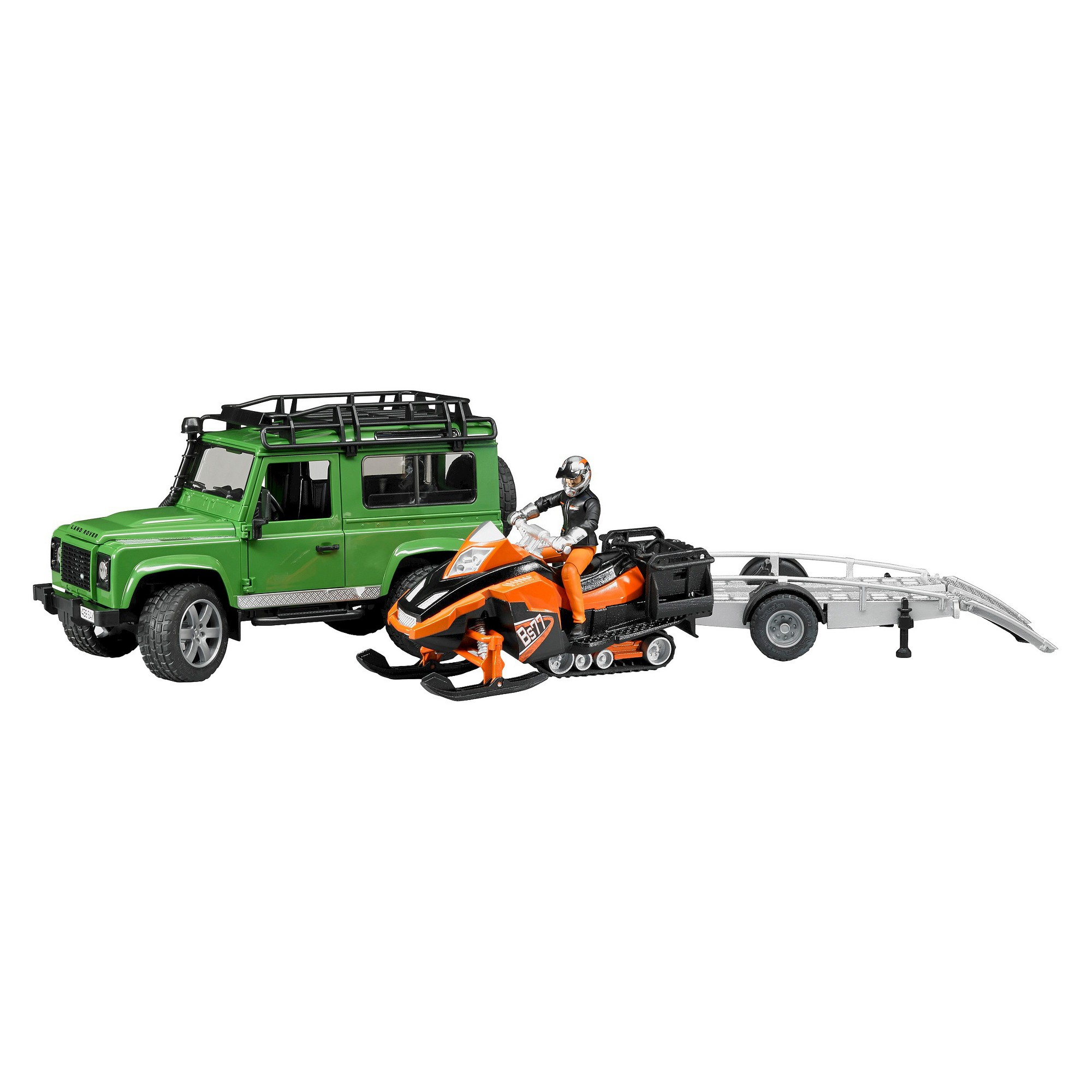 Land Rover Defender W Trailer Snowmobile And Skier Land Rover Defender Land Rover Snowmobile