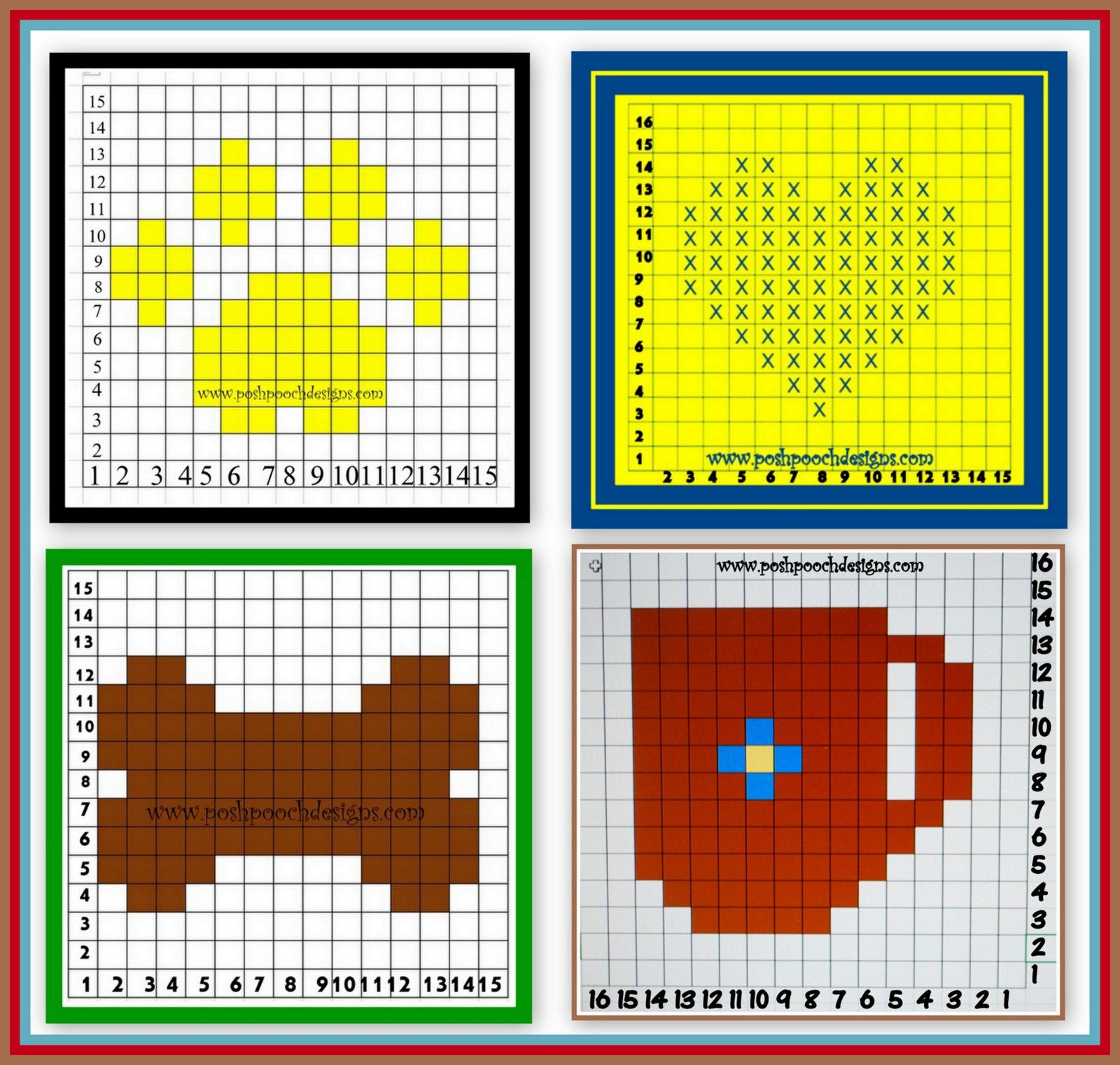 C2C Pixel Graph Dog Blanket Crochet Pattern and Video | Projects to
