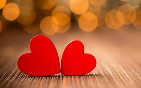 High Resolution Love Images With Two Red Hearts Heart Wallpaper