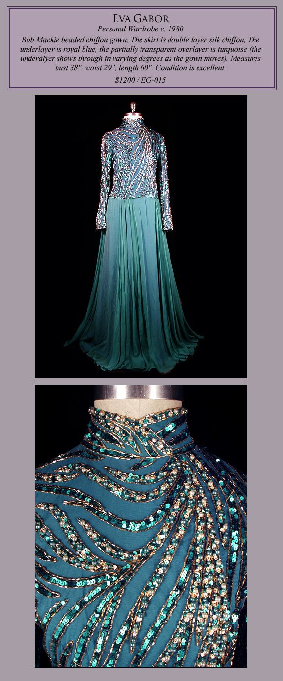 Bob Mackie Gown designed for Eva Gabor for sale on thefrock.com ...