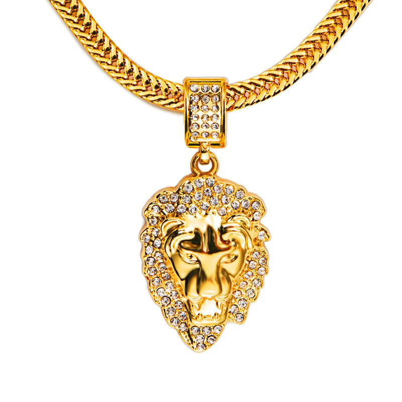 2016 New 100% Lion Head Pendants High Quality Fashion Franco Chain ...