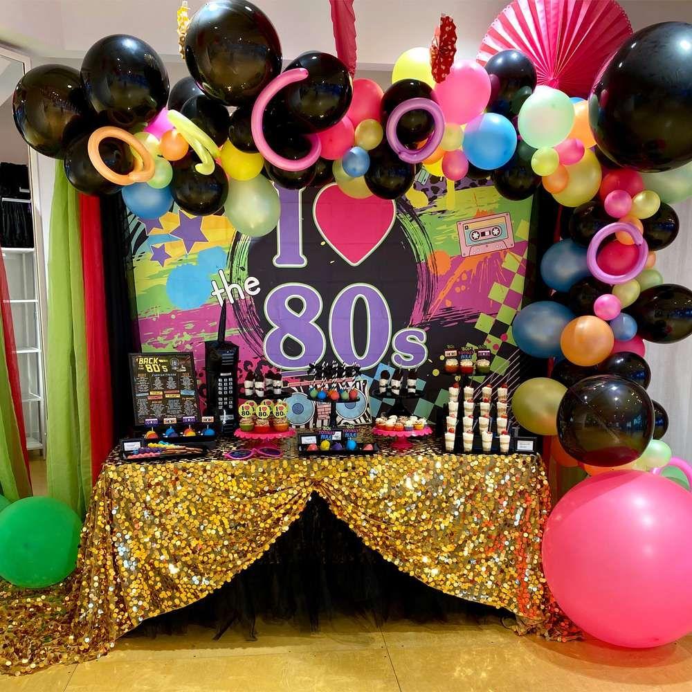I Heart The 80s Birthday Party Ideas Photo 1 Of 10 80s Birthday Parties 80s Party Decorations 80s Theme Party [ 1000 x 1000 Pixel ]
