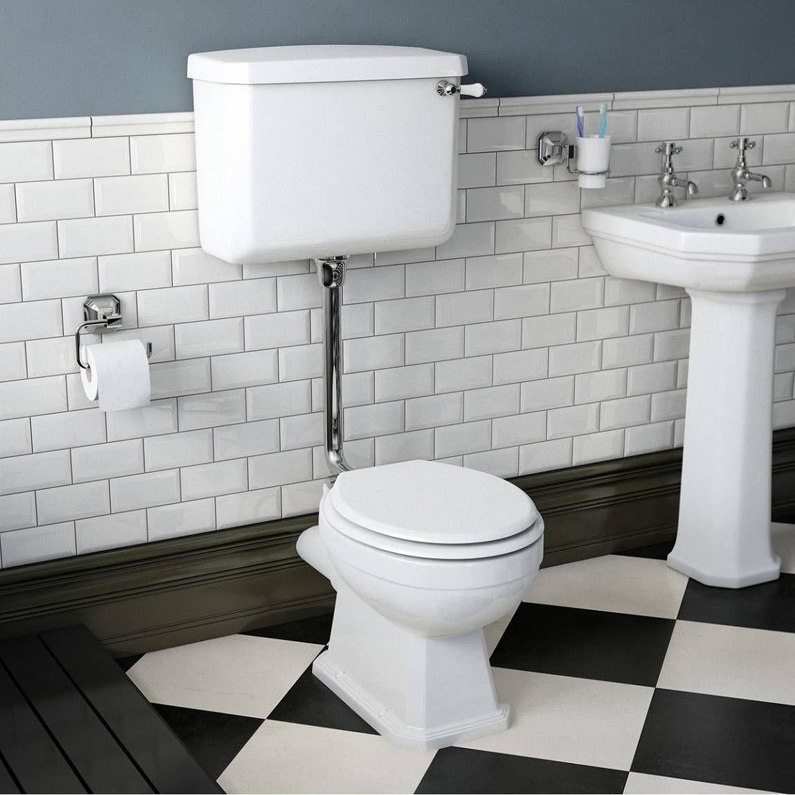 Regency Low Level Toilet inc Luxury White MDF Seat - Victoria Plumb ...