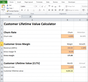 Customer Lifetime Value Calculator Plan Projections Customer Lifetime Value The Unit Calculator
